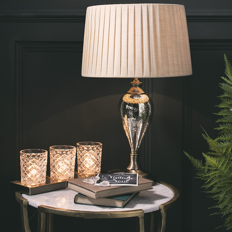 We're giving away a vintage glass inspired lamp