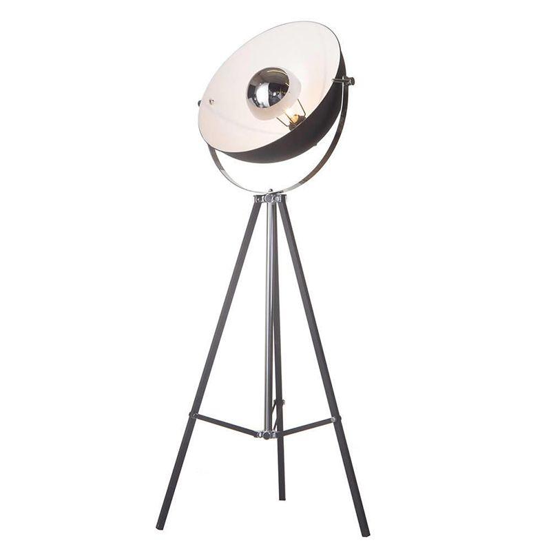 Tripod Parabolic Adjustable Floor Lamp – Black.