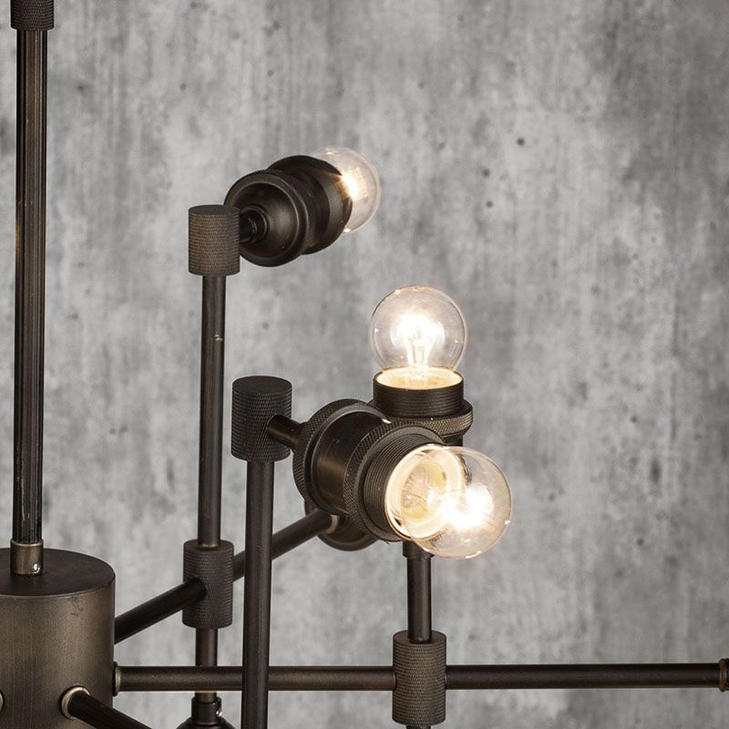 New Industrial Steamer 18 Light Ceiling Fitting