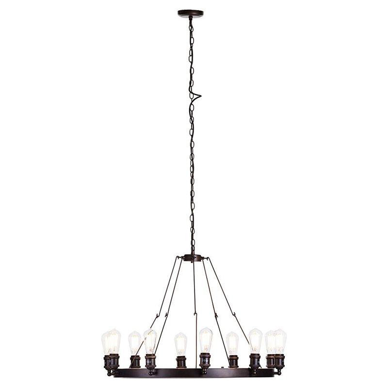 New Carter 10 Light Cartwheel Ceiling pendant - Rust