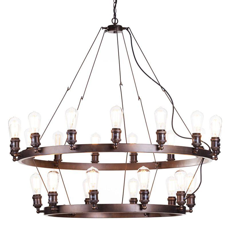 New Carter 25 Light 2 Tier Cartwheel Ceiling pendant - Rust