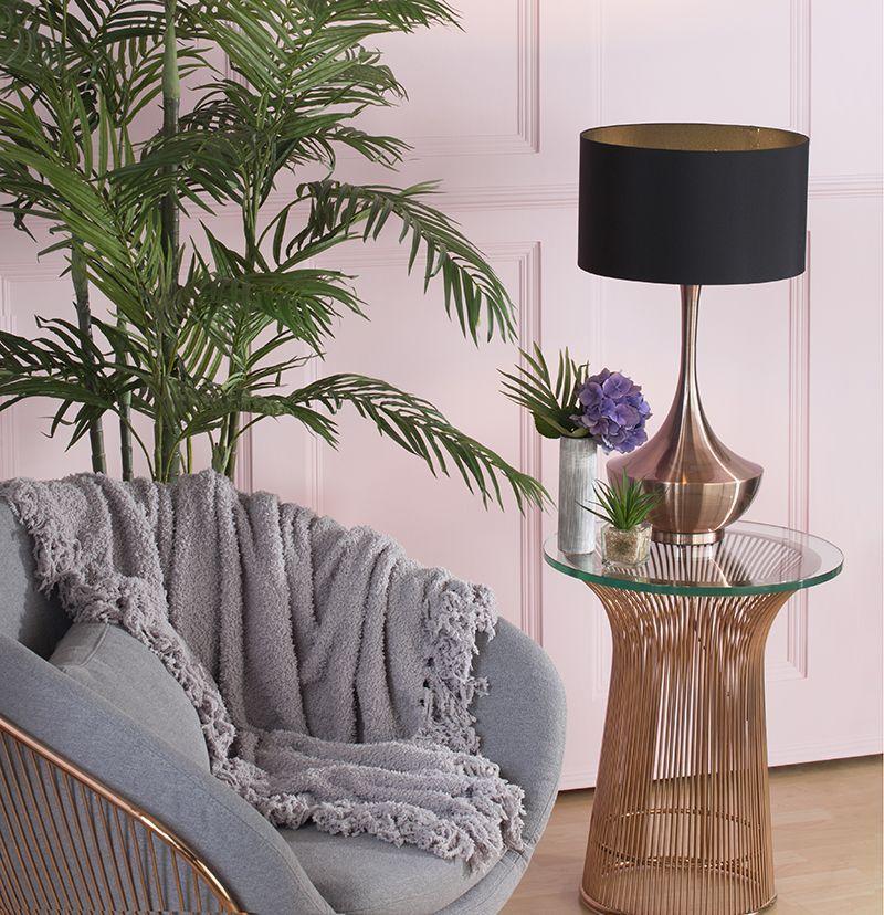 Table Lamp with Dark Grey Shade | Litecraft