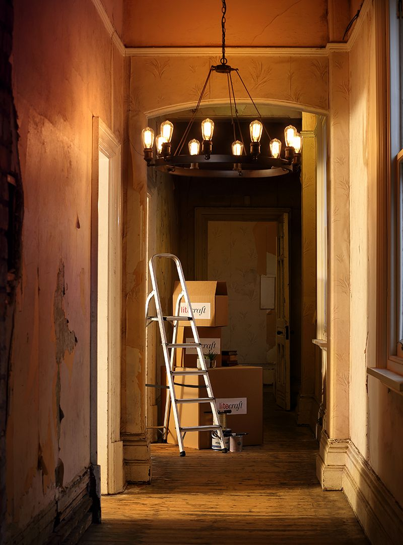 New Lighting : Carter 10 Light Vintage Style Industrial Cartwheel Ceiling Pendant