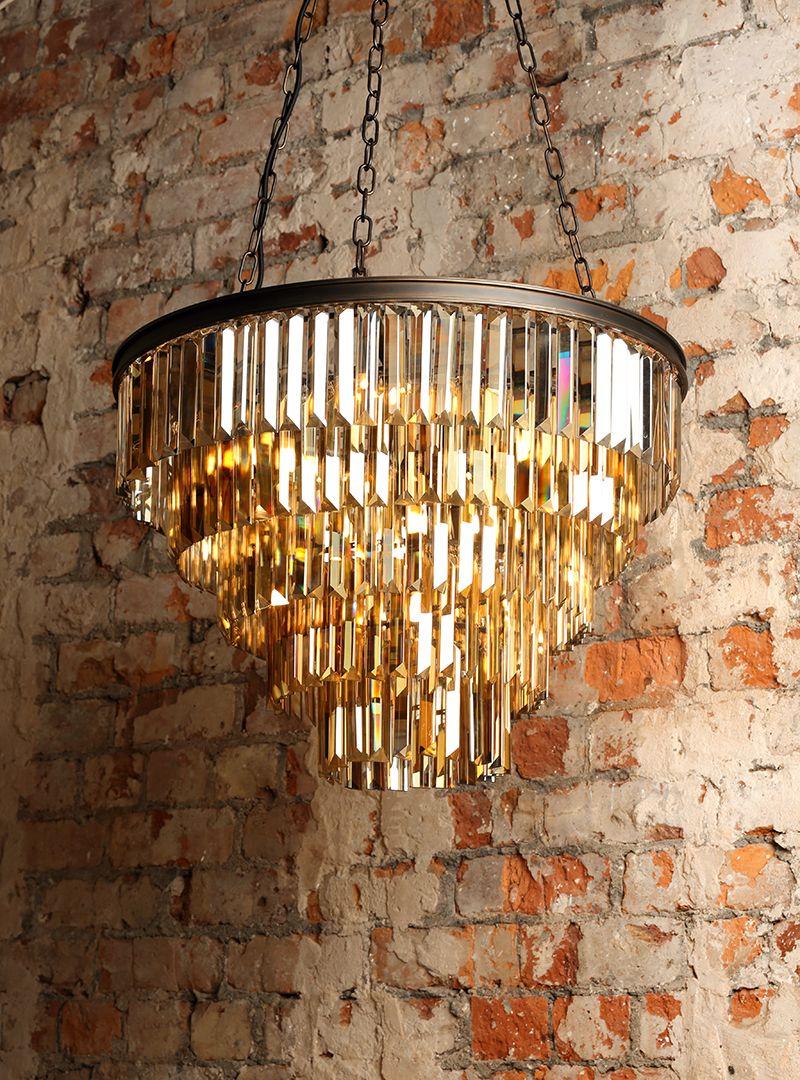 New Lighting : Ingot 10 Light Crystal Prism Bar Ceiling Pendant