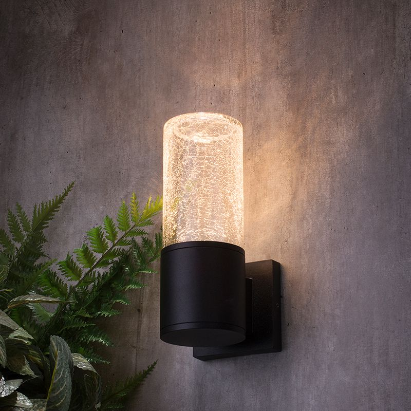 New Outdoor Wall Light Range - Wigan Crackled Glass outdoor Wall Light
