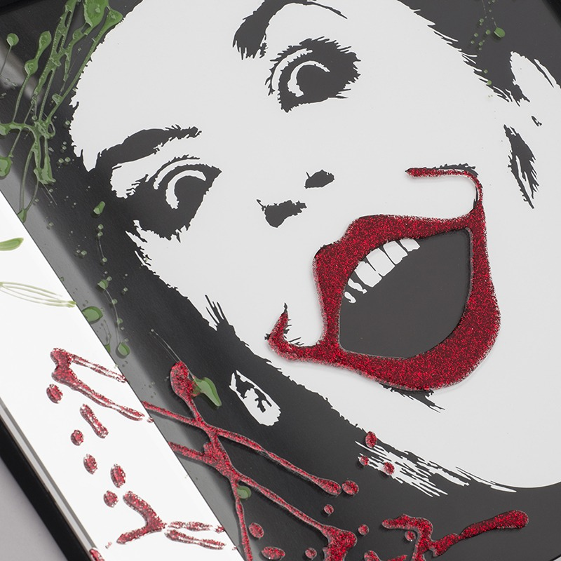 New Mirrored Wall Art - The Joker Mirrored Picture Frame - Silver