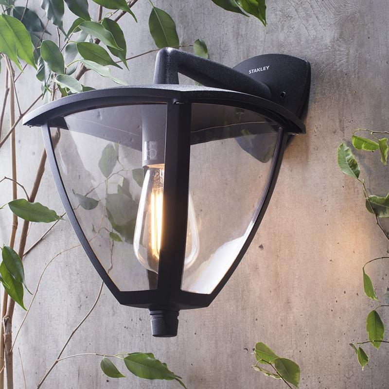 Stanley Davos Outdoor Aluminium Panel Lantern - Black