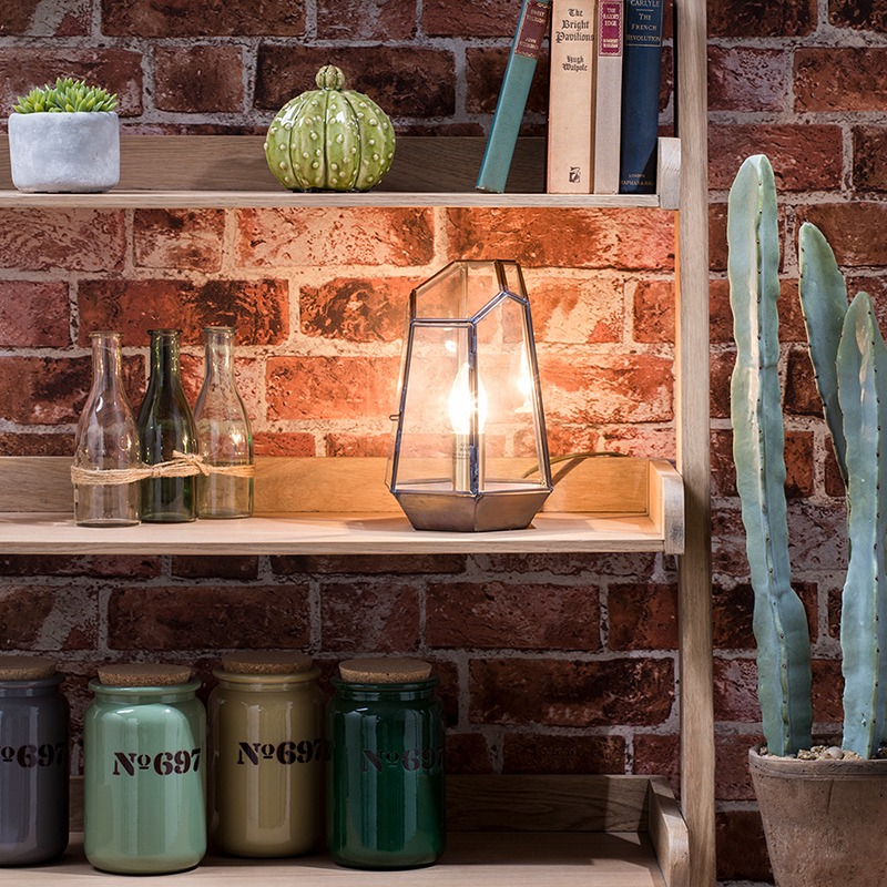 Get the Refined Industrial Look - Terrarium Table Lamp