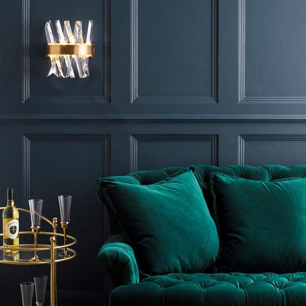 statement lighting brass wall light