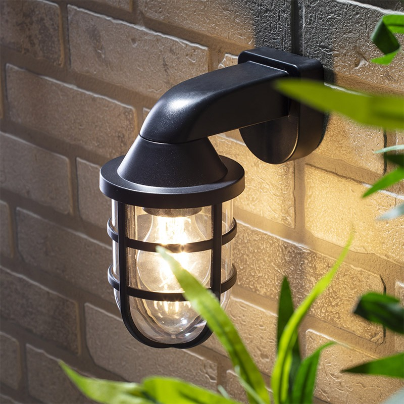 outdoor caged wall light